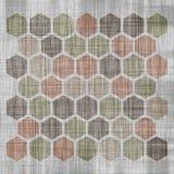 Grunge geometrisch hexagon patroon Royalty-vrije Stock Foto's