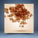 Grunge geometrische abstracte achtergrond Stock Foto's