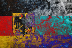 Grunge German  flag. Picture of a Grunge German  flag Royalty Free Stock Images