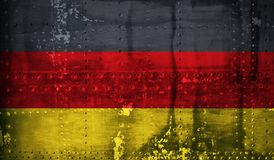 Grunge German flag Royalty Free Stock Photography