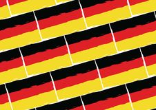 Grunge GERMANY flag or banner. Vector illustration Stock Photos