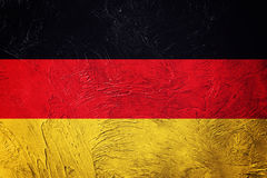 Grunge Germany flag. German flag with grunge texture. Stock Photo
