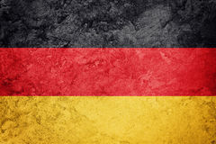 Grunge Germany flag. German flag with grunge texture. Royalty Free Stock Image