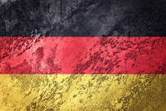 Grunge Germany flag. German flag with grunge texture. Royalty Free Stock Photos