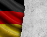 Grunge Germany flag Stock Image