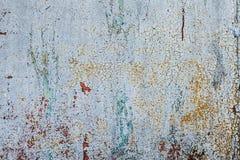 Grunge geroeste metaaltextuur, blauw-grijze geoxydeerde metaalachtergrond Het oude paneel van het metaalijzer Blauw-grijze metaal stock afbeelding