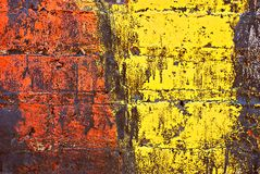 Grunge Geschilderde Bakstenen muur royalty-vrije illustratie