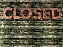 Grunge - gesloten teken royalty-vrije illustratie