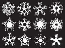 Grunge gestileerde sneeuwvlokken Stock Afbeelding