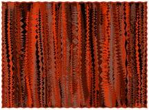 Grunge gestreepte deken in oranje, bruine, zwarte kleuren met rand stock illustratie