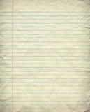 Grunge Gevoerd Document Royalty-vrije Stock Afbeelding