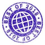 Grunge Geweven BESTE VAN de Zegelverbinding van 2018 royalty-vrije illustratie