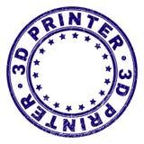 Grunge Geweven 3D PRINTER Round Stamp Seal royalty-vrije illustratie