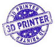 Grunge Geweven 3D PRINTER Stamp Seal royalty-vrije illustratie