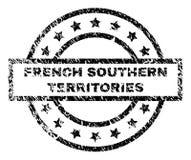Grunge Geweven FRANSE ZUIDELIJKE GEBIEDEN Zegelverbinding royalty-vrije illustratie