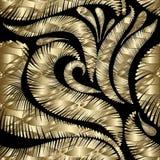 Grunge geweven gouden 3d naadloos patroon Royalty-vrije Illustratie