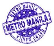 Grunge Geweven METRO de Zegelverbinding van MANILLA stock illustratie