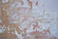 Grunge geweven muur als achtergrond met Oude schil Stock Foto