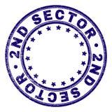 Grunge Geweven 2ND SECTOR om Zegelverbinding stock illustratie