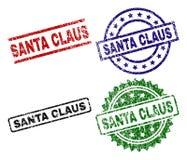 Grunge Geweven SANTA CLAUS Stamp Seals stock illustratie