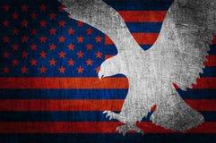 Grunge geweven van de vlag van de V.S. vector illustratie