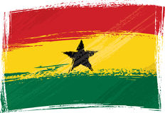 Grunge Ghana flag Royalty Free Stock Photo