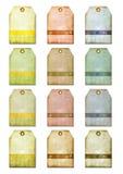 grunge gift markering-etiketten voor schroot-boekt Stock Fotografie