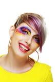 Grunge girl close up Stock Photos