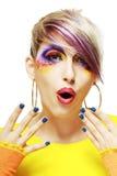 Grunge girl close up Stock Image