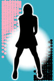 Grunge Girl Performer Royalty Free Stock Photography