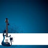 Grunge gitara Zdjęcie Stock