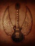 Grunge Gitarre mit Flügeln Lizenzfreies Stockbild