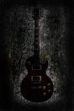 Grunge Gitarrenhintergrund Stockfotografie