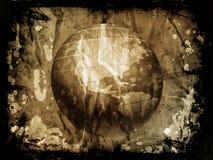 Grunge globe Royalty Free Stock Image