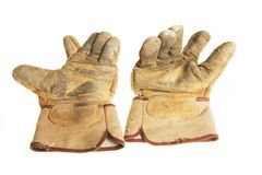 Grunge gloves Royalty Free Stock Images