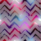 Grunge glow chevron. Seamless background pattern. Grunge glow chevron on blur background Stock Image