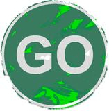 Grunge go sign Stock Image