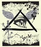 Grunge god´s Auge Lizenzfreies Stockbild