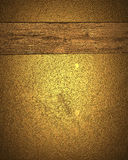 Grunge gold background with a yellow board. Template for design.  Stock Photo