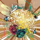 Grunge Gold Disco Ball Royalty Free Stock Image