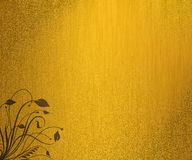 Grunge gold floral background Stock Photos