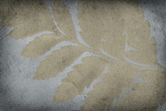 Grunge Gold Leaf Imprint Background Stock Photo