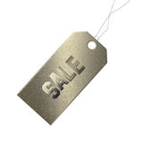 Grunge Gold Sale Tag Royalty Free Stock Photo
