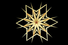 Grunge gold snowflake Royalty Free Stock Photography