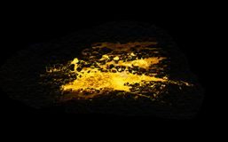 Free Grunge Gold Splash Isolated On A Black Background. Texture Shape For Design. Abstract Art Drawing. Handwork Royalty Free Stock Photo - 143290125