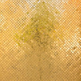 Grunge golden mosaic Stock Image