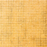 Grunge golden mosaic tiles texture Stock Photo