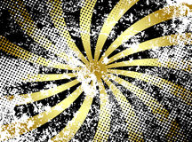 Grunge Golden Rays Stock Image