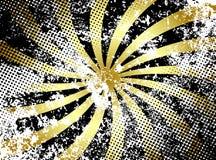 Grunge goldene Strahlen Stockbild