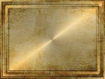 Grunge Goldplatte Stockfoto